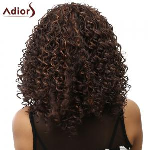 Curly Long Heat Resistant Synthetic Women's Wig - COLORMIX