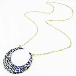 Retro Moon Geometric Pendant Necklace