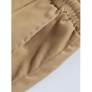 Casual Straight Leg Solid Color Drawstring Shorts For Men -
