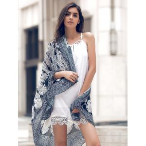 Stylish Gray Vintage Print Women's Cover Up -