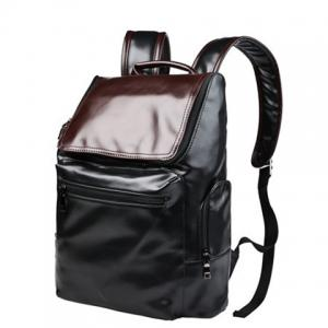 Preppy Style Color Block and Zip Design Backpack For Men -