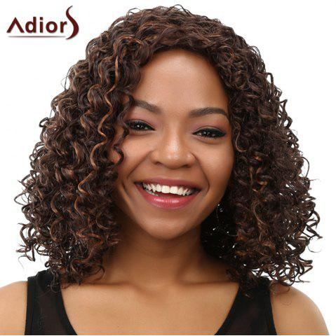 Fashion Curly Long Heat Resistant Synthetic Women's Wig COLORMIX