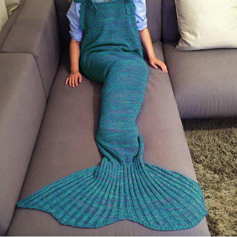 Sale Stylish Drawstring Style Knitted Mermaid Design Sleeping Bag Blanket