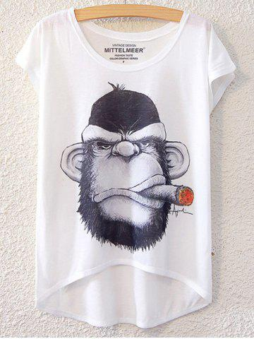 Outfits Simple Style Women's Gorilla Pattern Short Sleeve T-Shirt