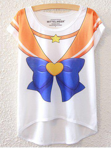 Buy Simple Style Women's Bowknot Pattern Short Sleeve T-Shirt