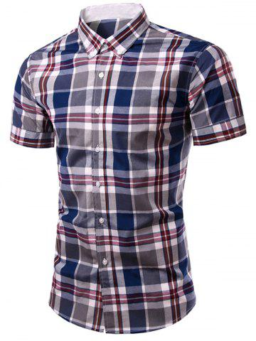 Trendy Fashion Plaid Printing Single Breasted Men's Shirt CHECKED 3XL