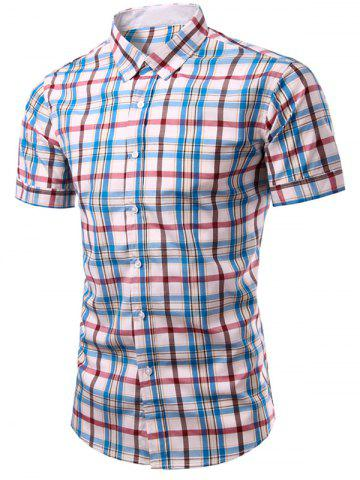 Outfits Stylish Plaid Printing Single Breasted Men's Shirt