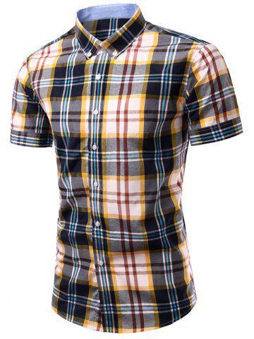 Affordable Checked Printing Single Breasted Men's Shirt