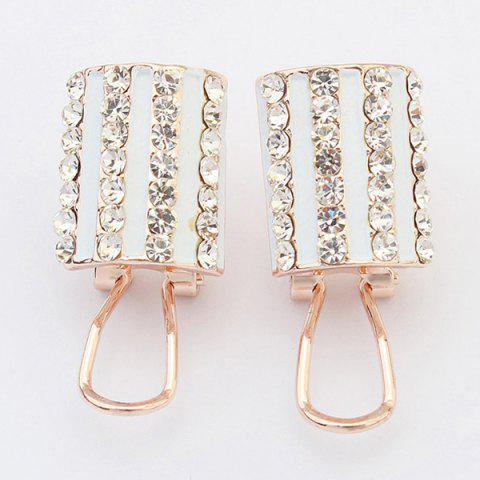Shops Pair of Rhinestone Alloy Geometric Earrings