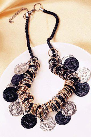 New Chic Circles Carving Coin Tassel Necklace For Women