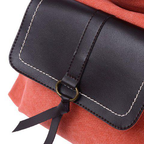 Shops Casual Splicing and Canvas Design Shoulder Bag For Women - WATERMELON RED  Mobile