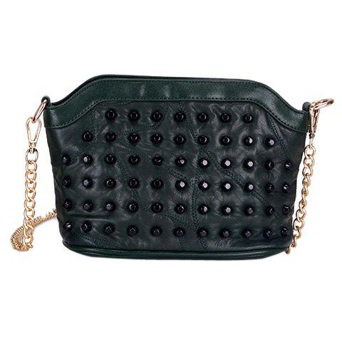 Store Casual Rivets and Zip Design Crossbody Bag For Women