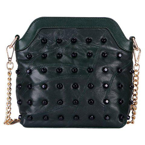 Shops Leisure Rivets and Solid Color Design Crossbody Bag For Women