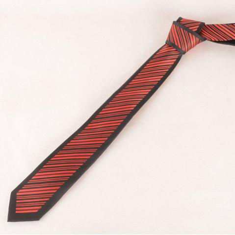 Trendy Stylish Twill Pattern Red and Black Tie For Men
