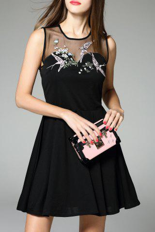 Buy Embroidered Sheer Dress