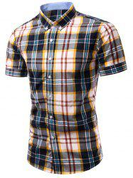 Checked Printing Single Breasted Men's Shirt -