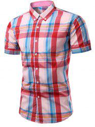 Fashion Checked Printing Single Breasted Men's Shirt