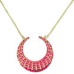 Retro Moon Geometric Pendant Necklace -