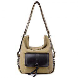 Casual Splicing and Canvas Design Shoulder Bag For Women