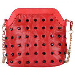 Fashion Rivets and Zip Design Crossbody Bag For Women -