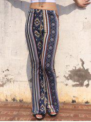 Vintage Elastic Waist Geometric Print Multicolor Skinny Women's Pants - COLORMIX ONE SIZE(FIT SIZE XS TO M)