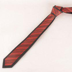 Stylish Twill Pattern Red and Black Tie For Men -
