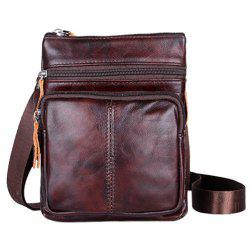 Fashion Solid Color and Zip Design Messenger Bags For Men