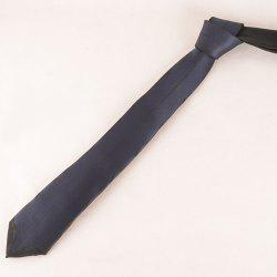 Stylish Deep Blue Match Black Tie For Men - BLACK