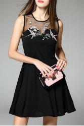 Embroidered Sheer Dress -