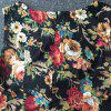 Stunning Jewel Neck Sleeveless Floral Print Dress For Women - COLORMIX S