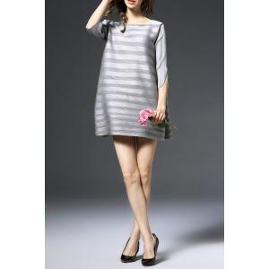 Striped Flared Pregnant Dress -