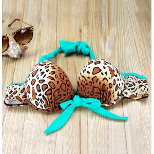 Push Up Leopard Print Bikini Set - LEOPARD M