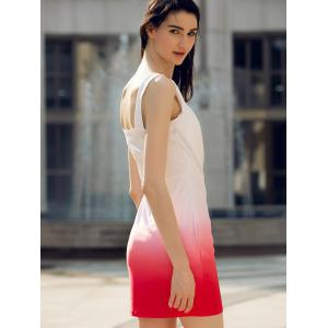 Fashionable Sleeveless Color Block Skinny Women's Dress -
