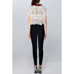 Hollow Out See-Through Cropped T-Shirt -