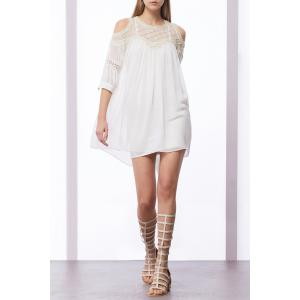Faux Pearl Beaded Dress -
