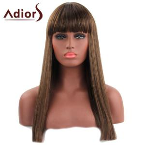 Trendy Straight Capless Full Bang Long Synthetic Adiors Wig For Women -