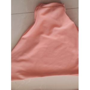 Femmes Simple Style  's Rose Halter Tankini Suit - ROSE PÂLE S
