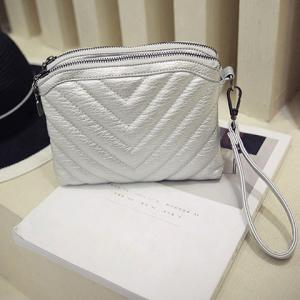 Trendy Solid Colour and Stitching Design Crossbody Bag For Women -