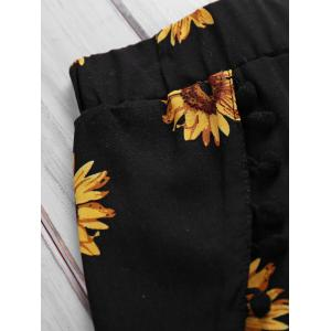 Simple Style Women's Sunflower Print Beach Shorts -