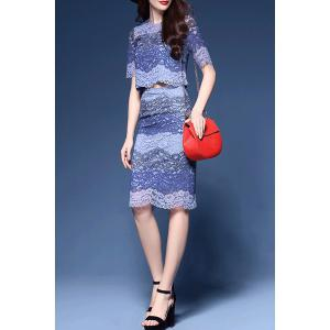 Lace Top and Skirt Twinset -