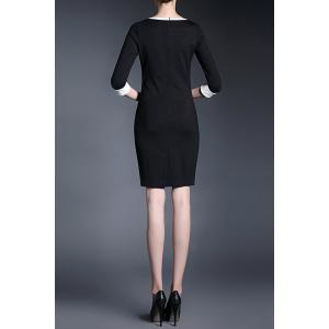 V-Neck Sheath Work Dress -