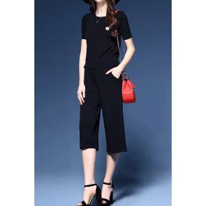 Simple Style Top and Pants Twinset -