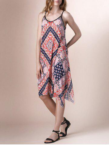 Sale Paisley Print Lace Up Boho Slip Dress COLORMIX S