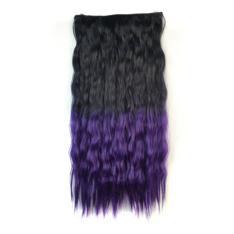 Unique Fluffy Corn Hot Curly Clip On Capless Ombre Color Long Synthetic Hair Extension For Women