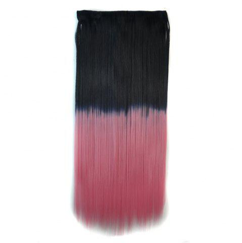 Hot Fashion Long Silky Straight Ombre Color Clip In Capless Hair Extension For Women