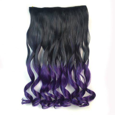 Outfits Fashion Long Capless Ombre Color Fluffy Wavy Clip In Synthetic Hair Extension For Women