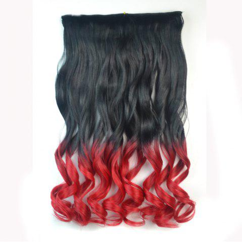 Buy Fashion Long Capless Ombre Color Fluffy Wavy Clip In Synthetic Hair Extension For Women