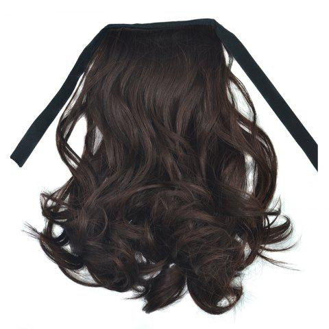 Fashion Short Capless Fluffy Curly Synthetic Ponytail For Women - RED MIXED BLACK
