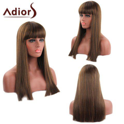 Store Trendy Straight Capless Full Bang Long Synthetic Adiors Wig For Women