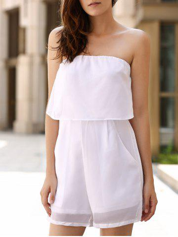 Buy Chic Women's Strapless Pure Color Romper